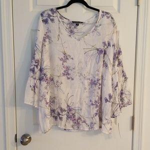 Zac & Rachel 2x floral blouse nwt